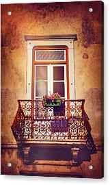Balcony In Lisbon  Acrylic Print
