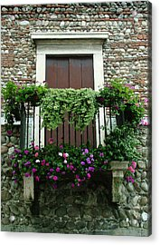 Balcony On Pebbled Wall Acrylic Print