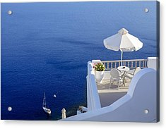 Balcony Over The Sea Acrylic Print by Joana Kruse