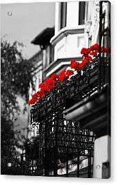 Balcony Roses Acrylic Print by Edward Myers