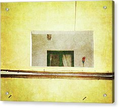 Acrylic Print featuring the photograph Balcony With Parrot by Anne Kotan