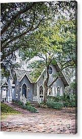Bald Head Island Chapel Acrylic Print