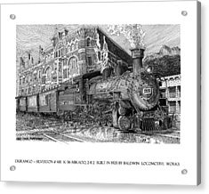 Baldwin 481   2 8 2   Narrow Gauge Steam Locomotive Acrylic Print by Jack Pumphrey