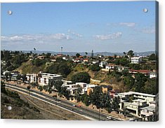 Baldwin Hills Over Stocker Street  Acrylic Print
