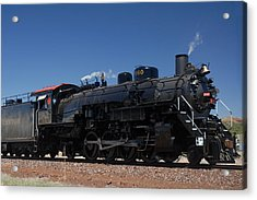 Baldwin Mikado 2-8-2 No 4960 Steam Locomotive Williams Arizona Acrylic Print by Brian Lockett