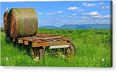 Bales At Rest Acrylic Print