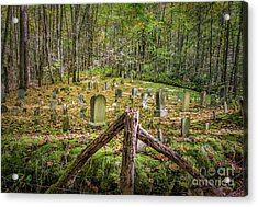 Bales Cemetery Acrylic Print by Patrick Shupert