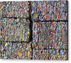Bales Of Aluminum Cans Acrylic Print by David Buffington