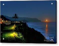 Bali Hai Moonset Acrylic Print