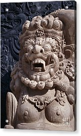 Bali Hindu Temple Sculpture Photograph - Bali Guardian I Acrylic Print