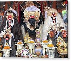 Balinese Life - Mlaspas Ida Sasuhunan Acrylic Print by Arya Swadharma