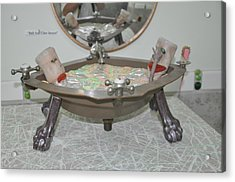 Ball And Claw Jacuzzi Acrylic Print by Michael Jude Russo