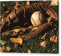 Ball And Glove Acrylic Print by Jack Dagley