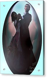 Ball Room Dancer Acrylic Print by Tbone Oliver