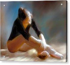 Ballerina 3 Acrylic Print by Juan Carlos Ferro Duque