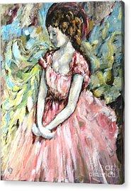 Ballerina Angel Acrylic Print by Carrie Joy Byrnes