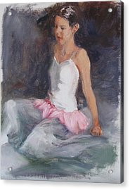 Ballerina At Rest Acrylic Print by Connie Schaertl