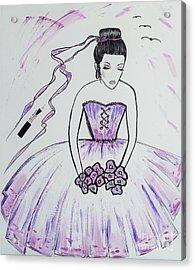 Ballerina Bride  Acrylic Print