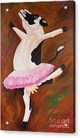 Ballerina Cow Acrylic Print