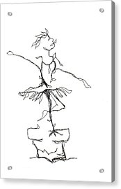 Ballerina- Cracked Pot Acrylic Print