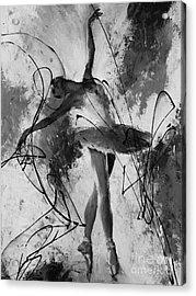 Ballerina Dance Black And White  Acrylic Print by Gull G