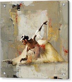 Ballerina Dance On The Floor 01 Acrylic Print by Gull G