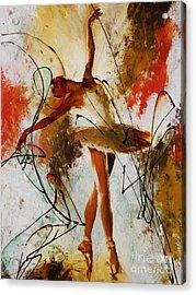 Ballerina Dance Original Painting 01 Acrylic Print by Gull G