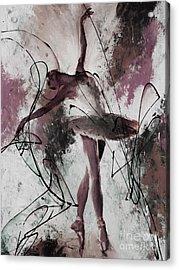 Ballerina Dance Painting 0032 Acrylic Print by Gull G
