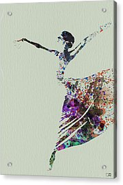 Ballerina Dancing Watercolor Acrylic Print