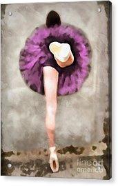 Ballerina Acrylic Print by Edward Fielding