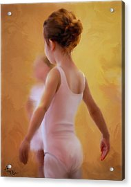 Ballerina In Pink Acrylic Print by Colleen Taylor