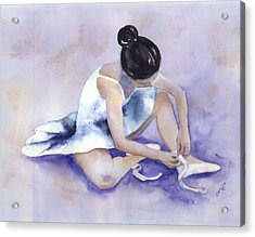Ballerina Acrylic Print by Jitka Krause