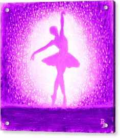 Ballerina Purple And Pink Acrylic Print