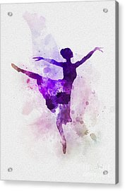 Ballerina Acrylic Print by Rebecca Jenkins