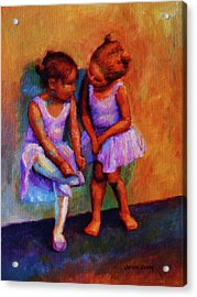 Ballerina Secrets Acrylic Print by Jeanne Young