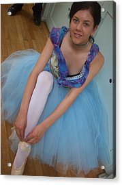 Acrylic Print featuring the painting Ballerina Suzanne by Judith Desrosiers
