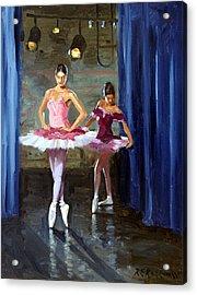 Ballerinas Backstage Acrylic Print by Roelof Rossouw