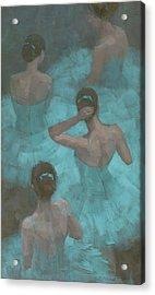Ballerinas In Blue Acrylic Print