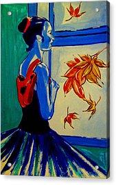 Ballerine En Automne Acrylic Print by Rusty Woodward Gladdish
