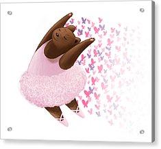 Ballet Bear Acrylic Print