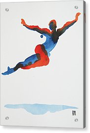 Ballet Dancer 1 Flying Acrylic Print by Shungaboy X