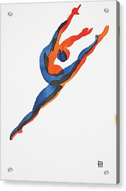 Ballet Dancer 2 Leaping Acrylic Print by Shungaboy X