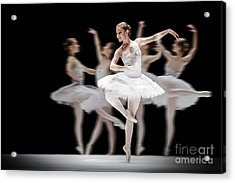 Acrylic Print featuring the photograph Ballet Dancer Dance Photography Long Exposure by Dimitar Hristov