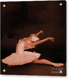 Ballet Dancer In White 01 Acrylic Print
