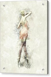 Acrylic Print featuring the digital art Ballet Dancer by Shanina Conway