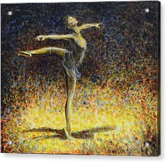 Acrylic Print featuring the painting Ballet by Nik Helbig