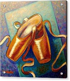Ballet Shoes Acrylic Print by John  Nolan