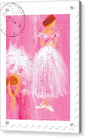 Ballet Sisters 2007 Acrylic Print by Marie Loh