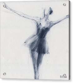 Ballet Sketch Dying Swan Acrylic Print by Beverly Brown