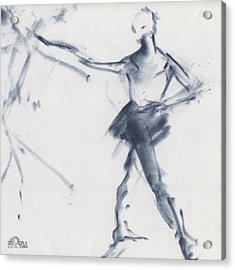 Ballet Sketch Tendu Front Acrylic Print by Beverly Brown